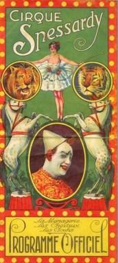 Cirque Spessardy - programme