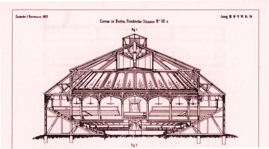 Plan du Zirkus Renz Friedrich Strasse