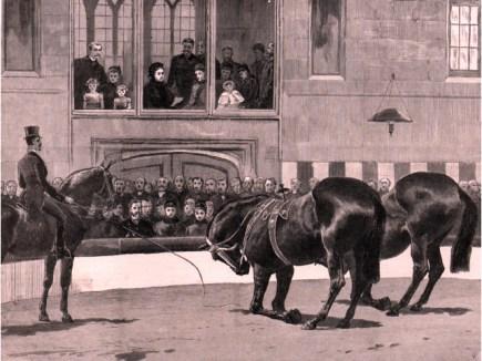 Hengler devant la Reine Victoria