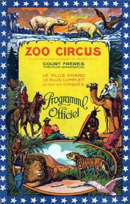 Programme du Zoo Circus
