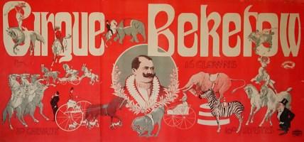 Cirque Beketow - affiche animaux