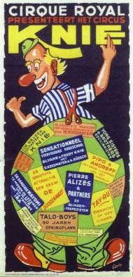 Affiche Knie - Royal de Bruxelles - 1950