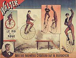 Acrobates sur roue de charrette