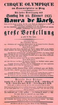 Affiche de Bach -  1835