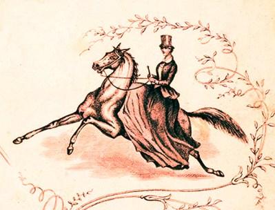 Madame de Bach à cheval