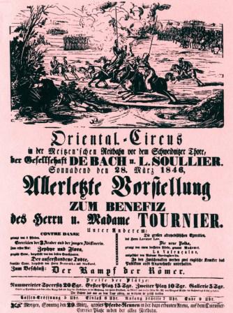 Oriental Circus - 1846 - affiche