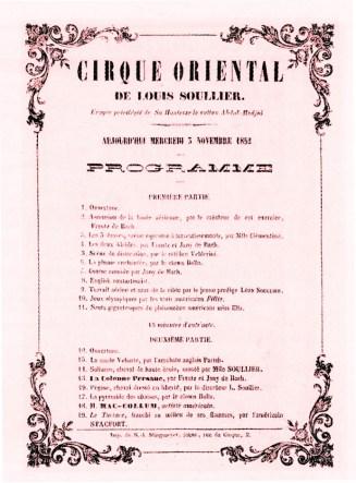 Cirque Oriental - programme 52