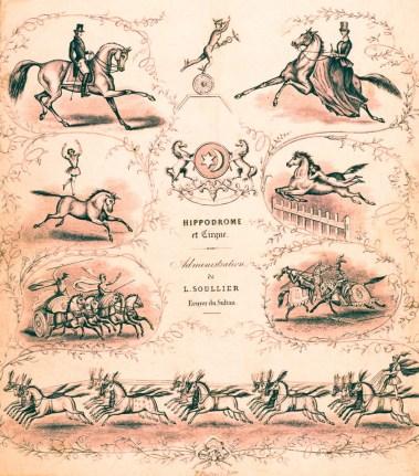 Hippodrome et Cirque Soullier - gravure