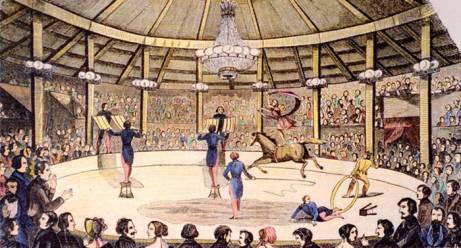 l'intérieur d'un cirque