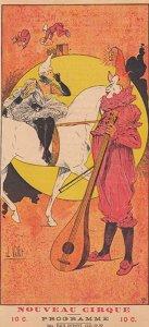 Nouveau Cirque - 1891 - programme