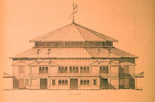 Cirque de Turin - 1884 - dessin