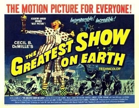 The greatest show on earth - affiche bleue