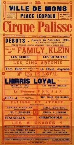 Palisse à Mons en 1911