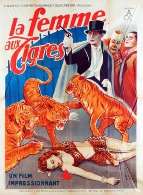 La femme aux tigres - belle affiche du film