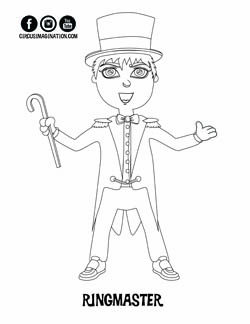 NEW! Exclusive Circus Printables! Coloring Pages and
