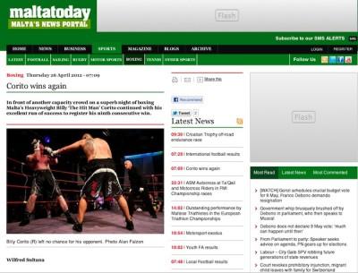 MaltaToday - Boxing Photo by Alan Falzon