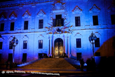 Castille Palace World Diabetes Day,Valletta,Malta