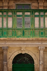 Building details in Valletta