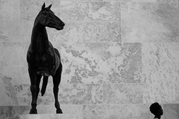Shapes,horse,3 legs, monochrome