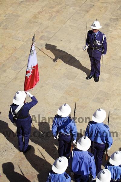 Police salute,Valletta,Malta,Parliament,Opening,