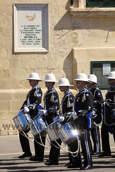 Police band,Valletta,Malta,Parliament,Opening,