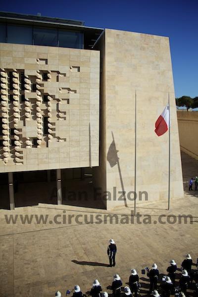 Flag,Valletta,Malta,Parliament,Opening,