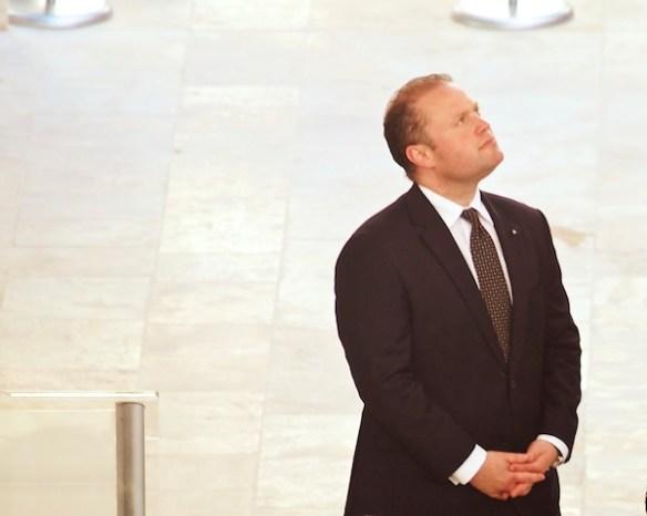 Prime minister admires the architecture.