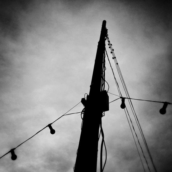 Dramatic light pole