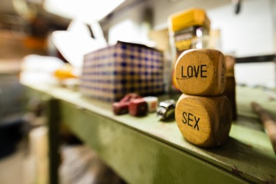Alan Falzon, Circus Malta,Love and Sex dice, fisheye.