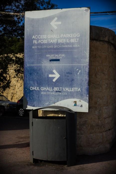Deplorabel entrance to Valletta