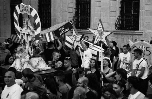 Valletta Funeral 2018, Champions, Darkroom Malta, Developing, 35mm Film, Black and White