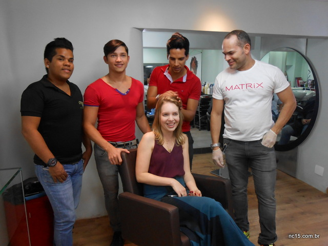 Momento de preparação para o clique com os meninos: Juliandro, Val, Demetrius e Rivaldo