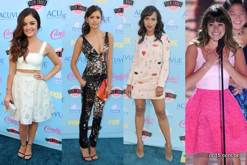 Lucy Hale, Nina Dobrev, Karry Washington e Lea Michele
