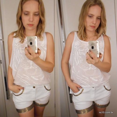 Quarto look Blusa: 49,90 Shorts: 69,90