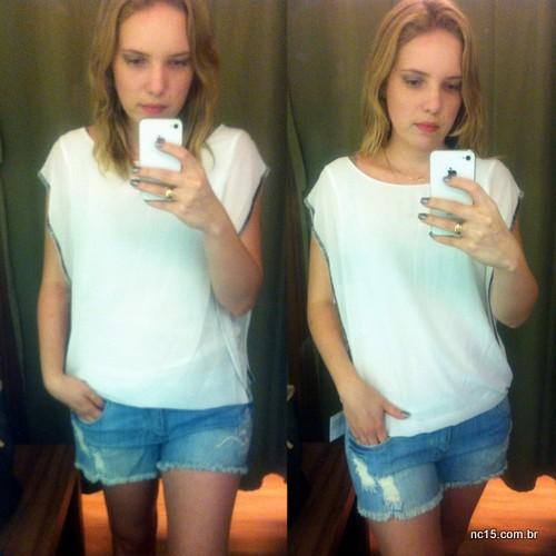 Look 5 Blusa: 89,90 Shorts: 69,90