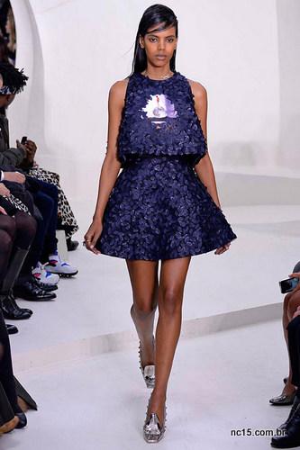 Vestido azul Dior
