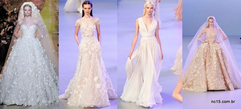 Inspirações noivas da alta costura de Paris