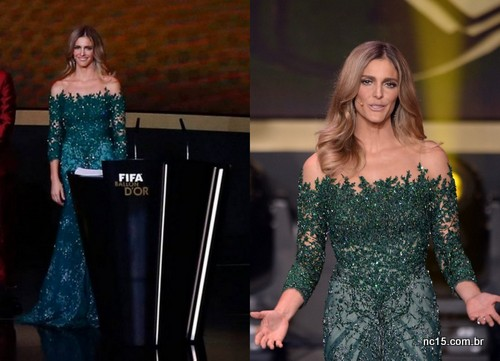 Imagens: globo.com O vestido para o evento Bola de Ouro na Suíça