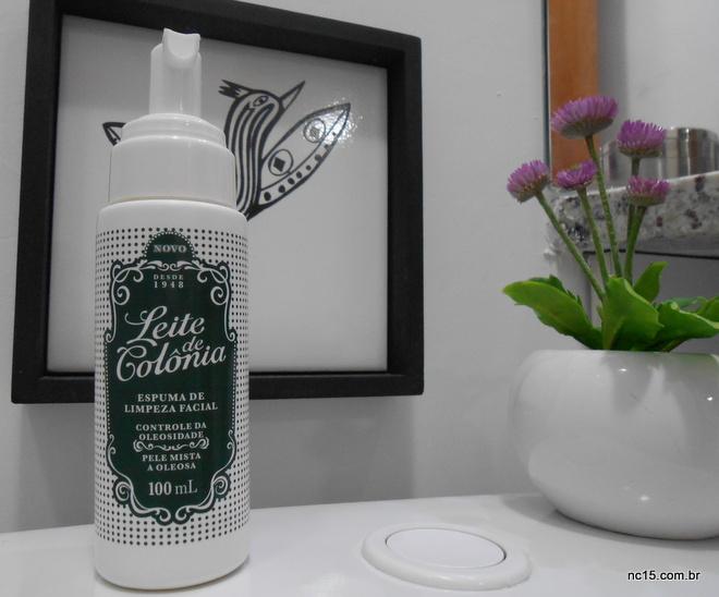 espuma de limpeza facial leite de colônia para controle de oleosidade