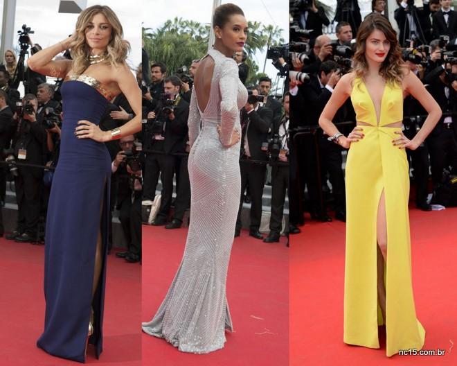 Grazi Massafera, Taís Araújo e Isabeli Fontana no festival de Cannes