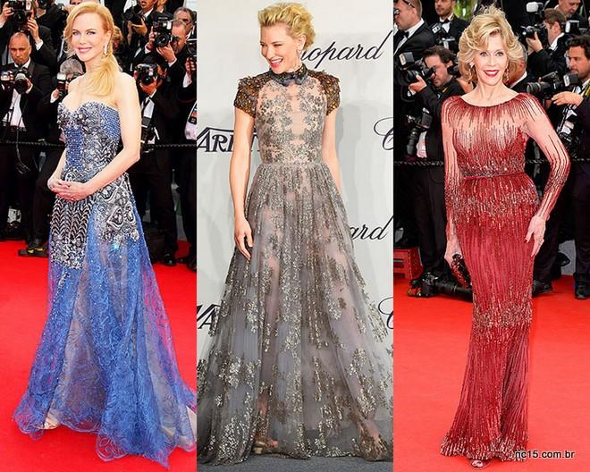 Nicole Kidman de Armani Privé, Cate Blanchett de Valentino e jane Fonda de Elie Saab, simplesmente deusas.