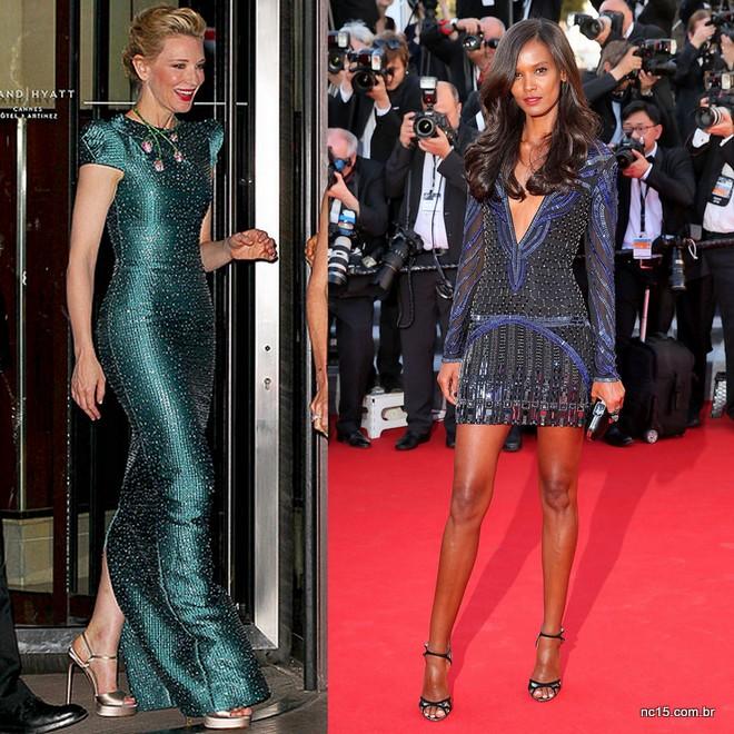 Blanchett também arrasou neste vestido verde, assim como Liya Kebede, que até hoje não sabia quem era, mas lindou usando um sexy Roberto Cavalli.