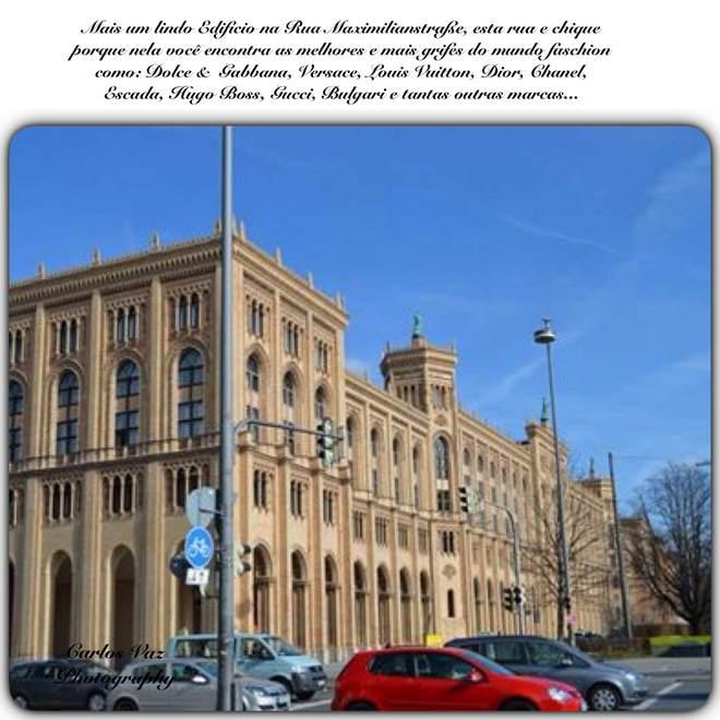 um dos prédios da rua Maximikianstrse onde podemos encontrar lojas como Dior, Vuitton, Chanel e outras.