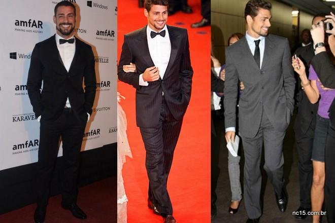Quando a ocasião pede, Cauã investe no look de gala ou terno social