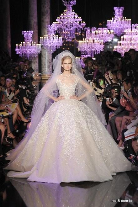 Noiva de Elie Saab na Paris Fashion Week Outo Inverno 2014-2015