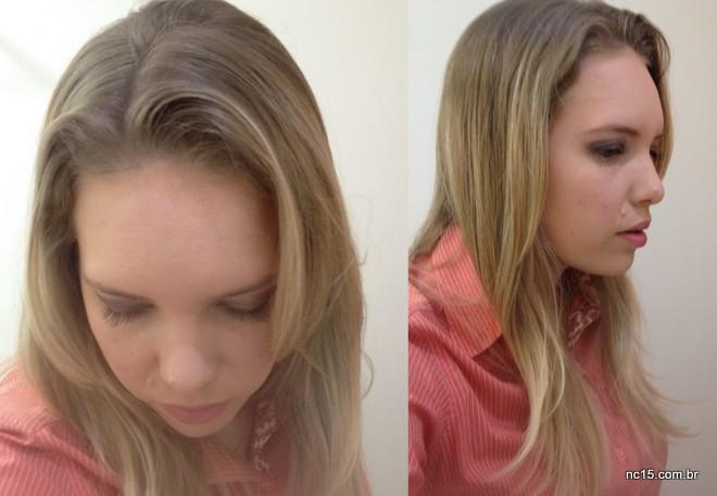 Cabelo limpinho depois de usar Shampoo a Seco Refresh Linha Modela + Trata da Tutanat.
