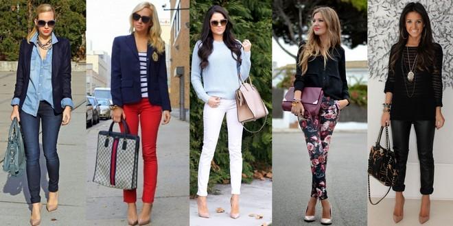 Sapato nude combinado com calça que vai do clássico jeans, passando pelas coloridas e também estampadas