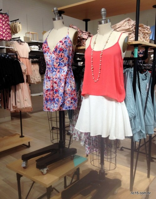 manequins dentro da Forever 21 do Barra Shopping