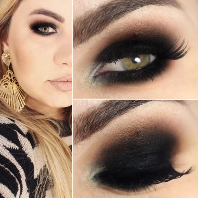 Olho preto esfumado com marrom