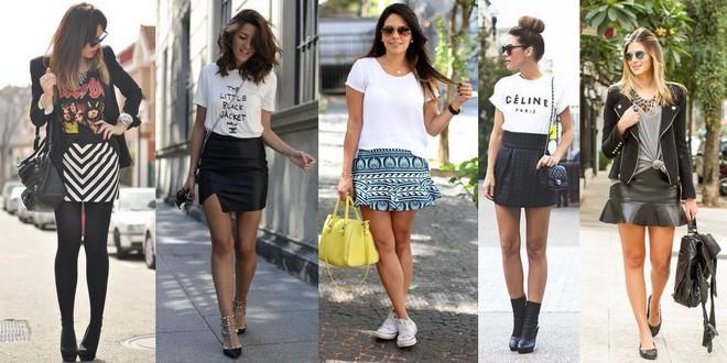 t-shirt com minissaia